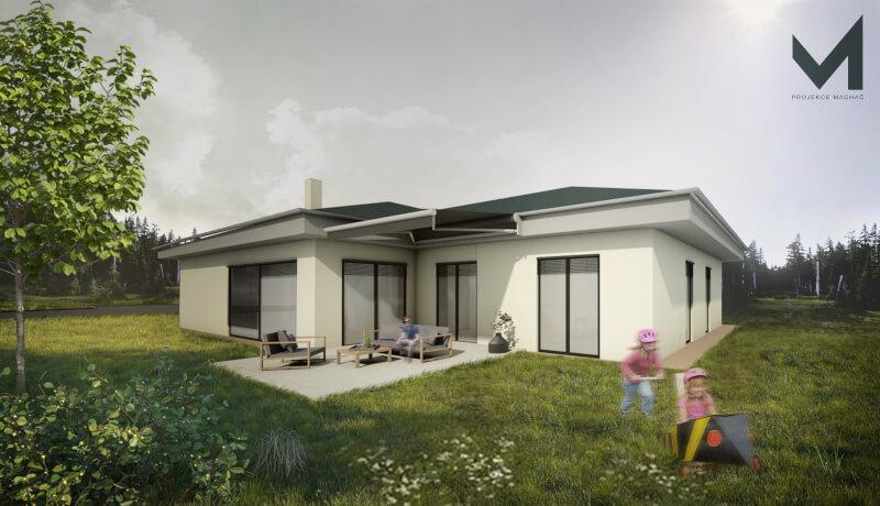 Realistická vizualizace rodinného domu (novostavba)