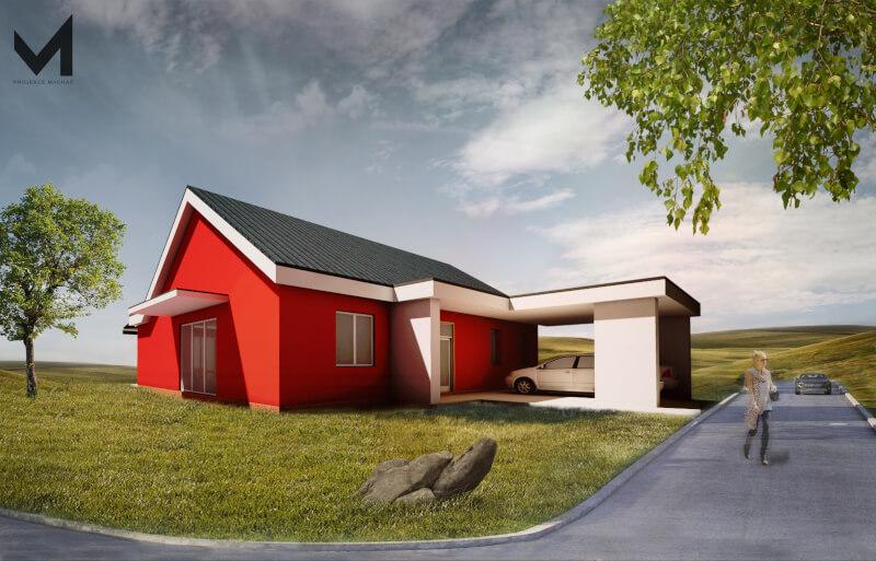 Novostavba rodinného domku na vesnici