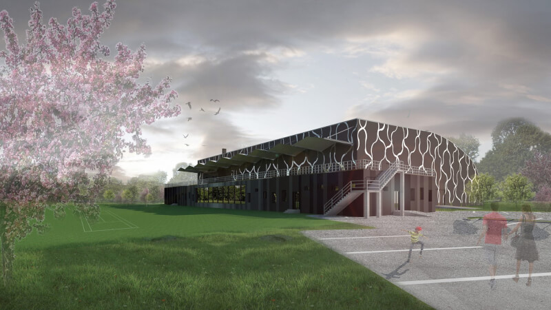 New building of tennis hall